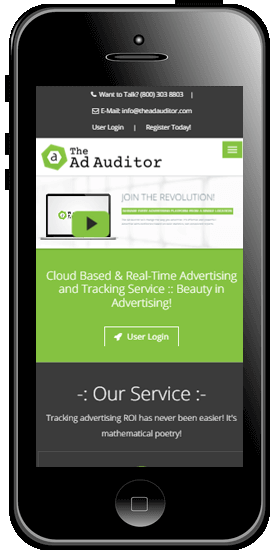 Mobile Screen Image of the Ad Auditor